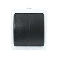 """""""Венеция"""" Выключатель 2-клавишный 10А IP54 белый EKF"""