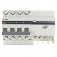 Дифференциальный автомат 4P 10А 30мА тип АС х-ка C эл. 270В 4,5кА АД-4 EKF PROxima