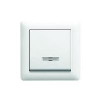 Выключатель с подсветкой 1-полюсный LUMINA2 WL0210/WL0211