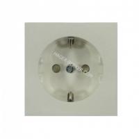 Розетка с заземлением с защитой контактов белая FIORENA (винт) 16А/250В
