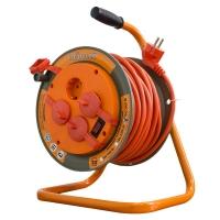 Удлинитель силовой на катушке GLANZEN 4 гн.,ПВС 3х1,5 IP44 арт. ЕВ-30-008