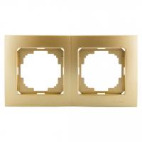 Рамка 2-х местная золото Touran Lux Plus