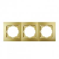 Рамка 3-х местная золото Touran Lux Plus