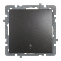 Выключатель Lux Plus антрацит 1кл проходной