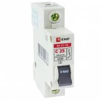 Автоматический выключатель 1P 25А (C) 4,5кА ВА 47-29 EKF