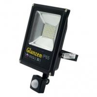 Светодиодный прожектор c датчиком движения GLANZEN FAD-0012-30 (30 Вт, 6000К)