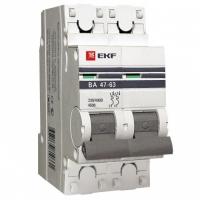 Автоматический выключатель  2P 20А (B) 4,5kA ВА 47-63 EKF
