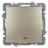 Выключатель Lux Plus 1кл Золото