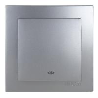 Выключатель Lux Plus серебро 1кл промежуточный